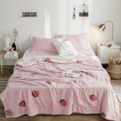 2018新款-羊羔毯 150*200cm 爱心草莓