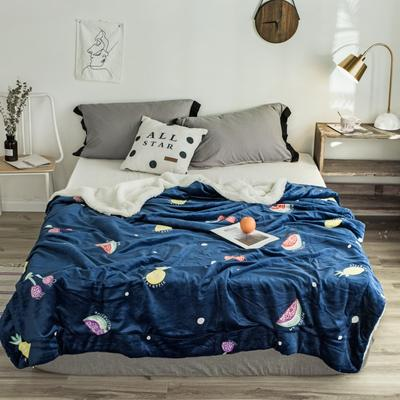 2018新款-羊羔毯 150*200cm 菠萝樱桃