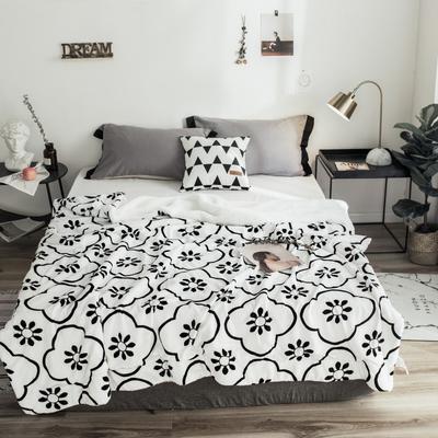 2018新款-羊羔毯 150*200cm 花砖