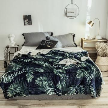 2018新款-羊羔毯 150*200cm 热带植物