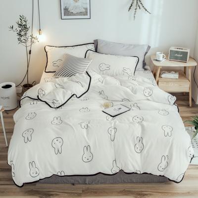 2018年新款牛奶绒四件套 1.8m(6英尺)床 小兔乖乖