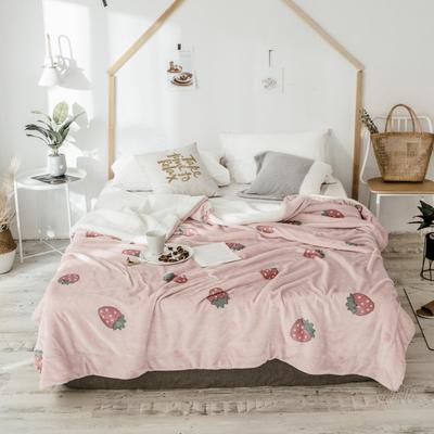 2018新款羊羔毯 150*200cm 爱心草莓