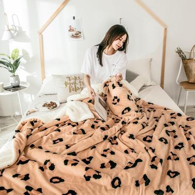 2018新款羊羔毯 150*200cm 黄豹纹