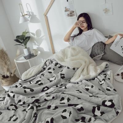 2018新款羊羔毯 150*200cm 灰豹纹