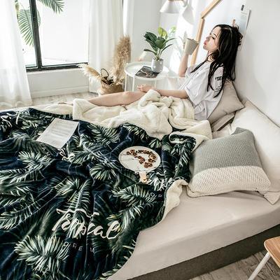 2018新款羊羔毯 150*200cm 热带植物