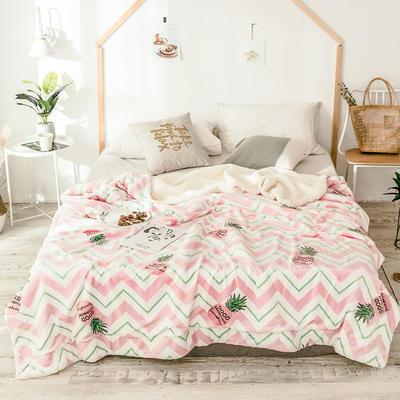 2018新款羊羔毯 150*200cm 线条菠萝
