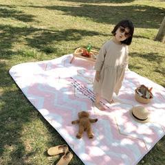2019新款野餐垫 140×195cm 粉波浪
