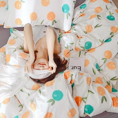 2019新款全棉四件套-影棚图 1.2m三件套 香橙