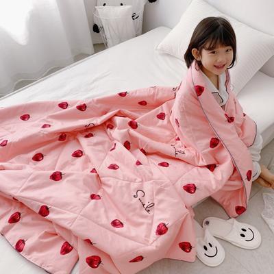 2019新款纯棉夏被-小模特图 200X230cm 粉草莓