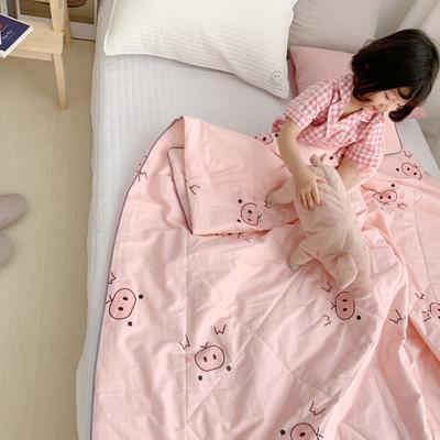 2019新款纯棉夏被-小模特图 150x200cm 粉色猪猪