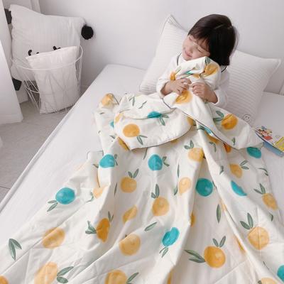 2019新款纯棉夏被-小模特图 200X230cm 香橙