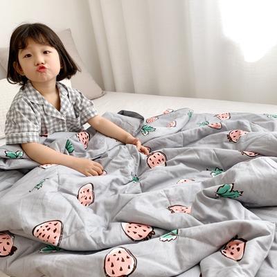 2019新款纯棉夏被-小模特图 150x200cm 小草莓灰