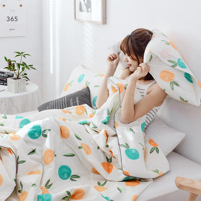 2019新款纯棉夏被-影棚图 单枕套/只 香橙