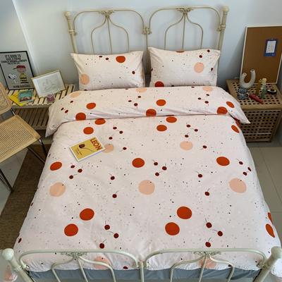 2019新款13372純棉四件套 1.2m三件套 紅櫻桃