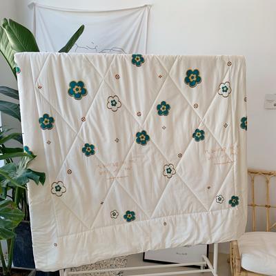 2019新款13372纯棉夏被 150x200cm 白色小花