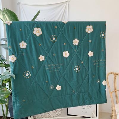 2019新款13372纯棉夏被 150x200cm 绿色小花