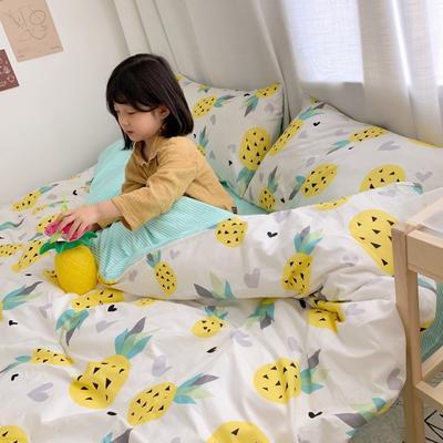 2019新款13070全棉四件套 1.2m床单款三件套 黄菠萝