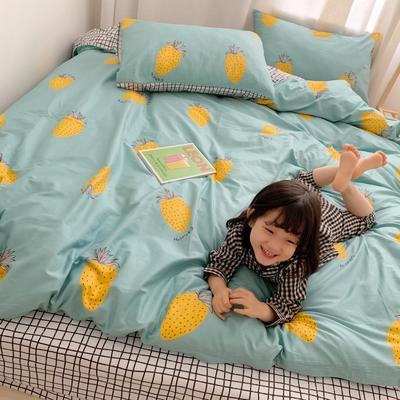 2019新款13070全棉四件套 1.2m床单款三件套 绿色甜心