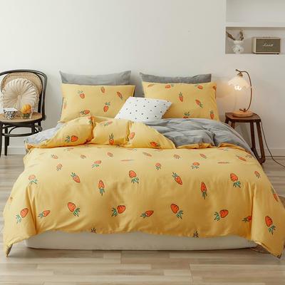 2019新款13372全棉水晶绒四件套 1.2m床单款三件套 小萝卜