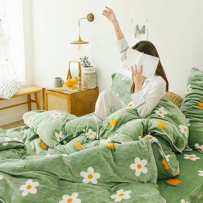 2019新款牛奶绒四件套-影棚图 1.8m床单款 盛放的花