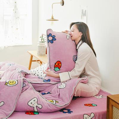 2019新款牛奶绒四件套-影棚图 1.8m床单款 小可爱