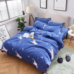 2018新款加厚磨毛床单四件套 1.2m(4英尺)床三件套 拔萝卜