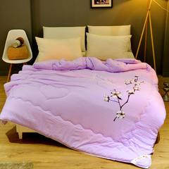 水洗棉被芯冬被 加厚被子棉被芯1.5 1.8/2米加大被子 单双人被子被褥 150x200cm4斤 高贵紫