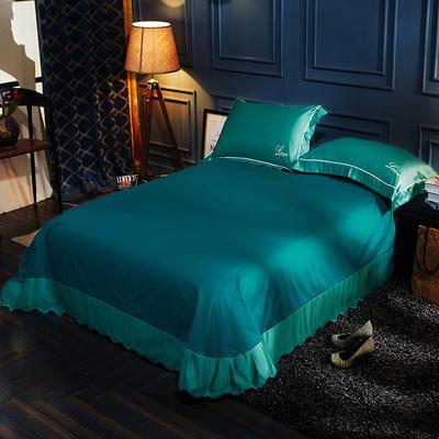 水洗真丝单品床单 250*270月牙边床单 羽墨