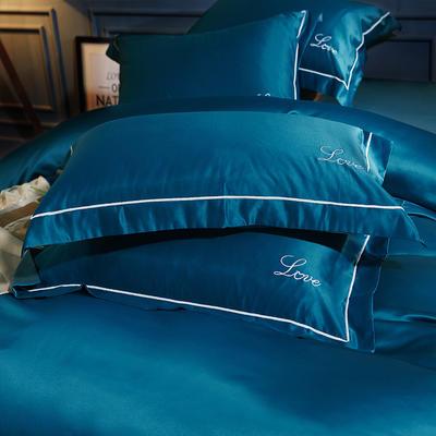 水洗真丝单品枕套 48cmx74cm枕套一对 恋空