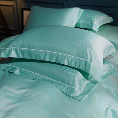 水洗真丝单品枕套 48cmx74cm枕套一对 叶语