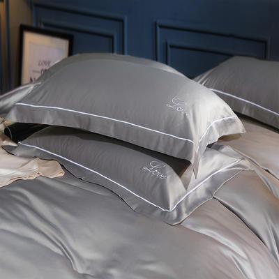 水洗真丝单品枕套 48cmx74cm枕套一对 印象