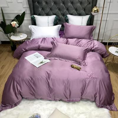 2019新款水洗真丝+棉四件套 1.8m(床单款四件套) 莫妮卡