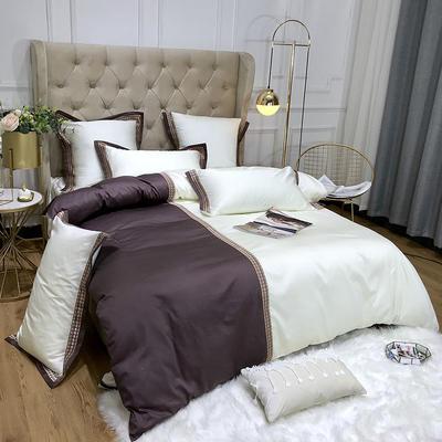 2019新款60长绒棉四件套 2.0m床单款四件套 琉璃奢