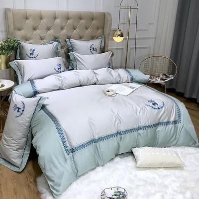 2019新款60长绒棉四件套 2.0m床单款四件套 缇娜