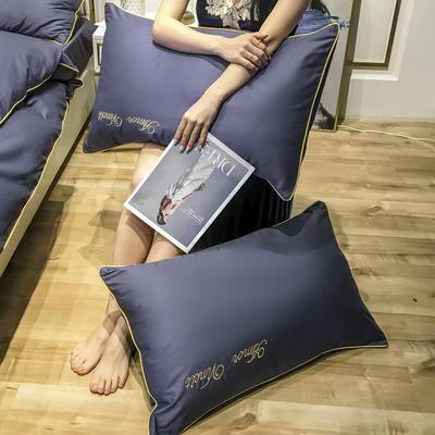 2020新款60长绒棉-单品枕套 48*74×2 赫啦-帝王紫