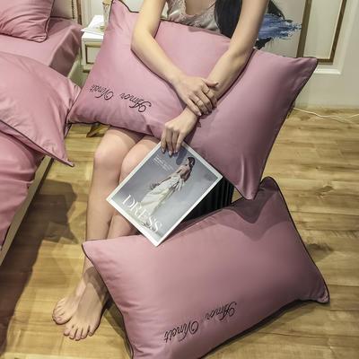 2020新款60长绒棉-单品枕套 48*74×2 赫啦-浅豆沙