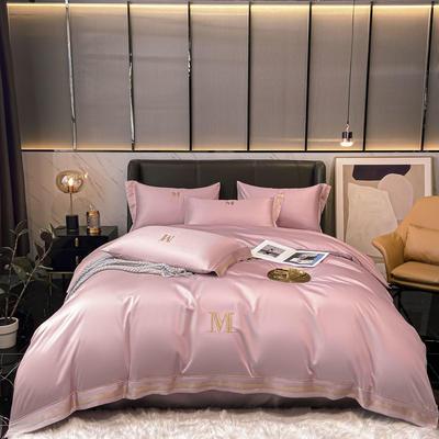 2021新款60S长绒棉绣花全棉四件套-寐系列 1.2m床单款三件套 寐-典雅豆沙