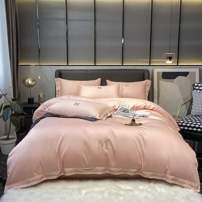2021新款60S长绒棉绣花全棉四件套-寐系列 1.2m床单款三件套 寐-玛瑙玉