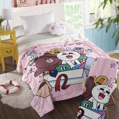 萌宝家纺-婴幼儿卡通双层盖毯水晶绒羊羔绒毛毯 115*155cm 生日礼物