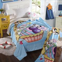 萌宝家纺-婴幼儿卡通双层盖毯水晶绒羊羔绒毛毯 150*200cm 动物乐园