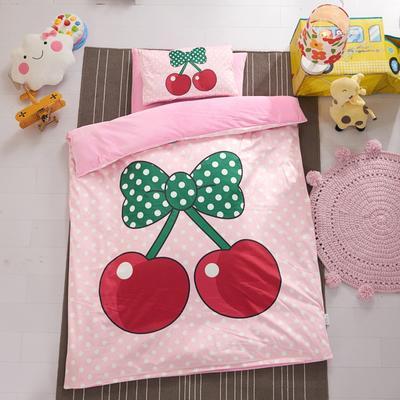 幼儿园保暖被子婴童6件套(水晶绒保暖系列)加厚棉花款 加厚棉花款 小樱桃