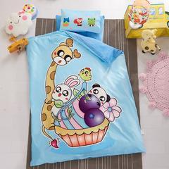 幼儿园保暖被子婴童6件套(水晶绒保暖系列)棉花子母款 棉花子母款 动物乐园