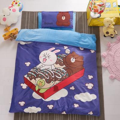 幼儿园水晶绒保暖系列单被套 120*150cm 开心吃货