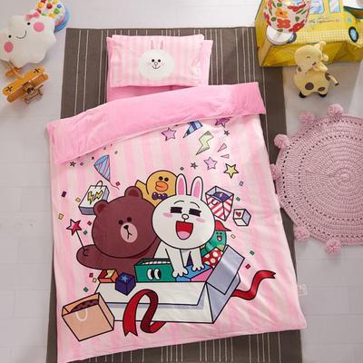 加厚保暖幼儿园被子三件套婴童6件套(水晶绒保暖系列) 珍珠棉枕芯 生日礼物