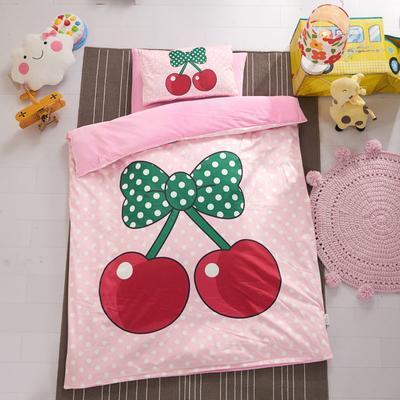 加厚保暖幼儿园被子三件套婴童6件套(水晶绒保暖系列) 棉花子母款(7件套) 小樱桃