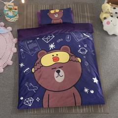 加厚保暖幼儿园被子三件套婴童6件套(水晶绒保暖系列) 丝绵芯(被芯2斤) 布朗熊