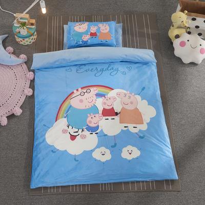 加厚保暖幼儿园被子三件套婴童6件套(水晶绒保暖系列) 棉花子母款(7件套) 彩虹小猪