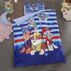 加厚保暖幼儿园被子三件套婴童6件套(水晶绒保暖系列) 丝绵款  (6件套) 狗狗队