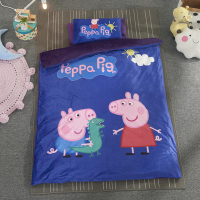 加厚保暖幼儿园被子三件套婴童6件套(水晶绒保暖系列) 珍珠棉枕芯 欢乐小猪