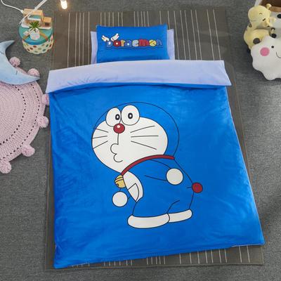 加厚保暖幼儿园被子三件套婴童6件套(水晶绒保暖系列) 棉花子母款(7件套) 机器猫